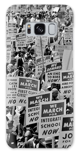 March On Washington Galaxy Case - March On Washington by Benjamin Yeager