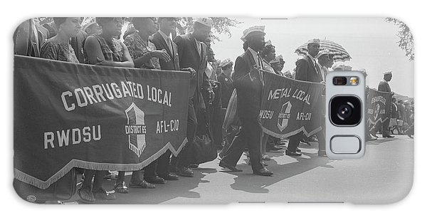 March On Washington Galaxy Case - Marchers Carrying Labor Union Banners by Stocktrek Images