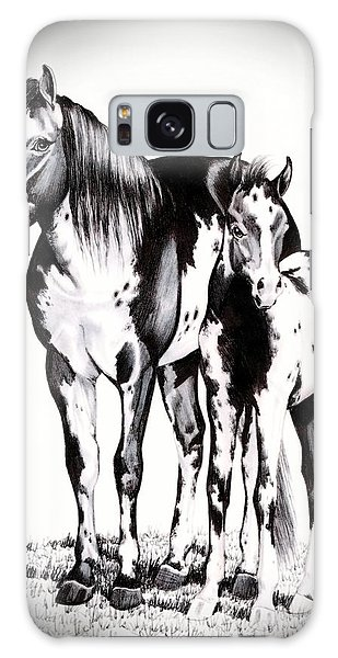 Mare And Colt Galaxy Case by Cheryl Poland