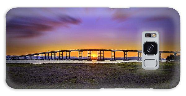 Mare Island Bridge At Sunset Galaxy Case