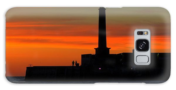 Margate Pier Sunset Galaxy Case