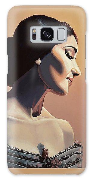 Maria Callas Painting Galaxy Case