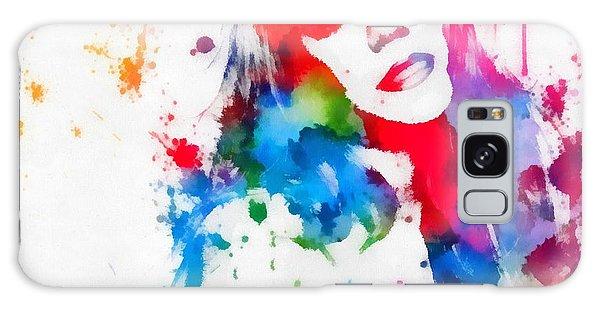 Mariah Carey Watercolor Paint Splatter Galaxy Case