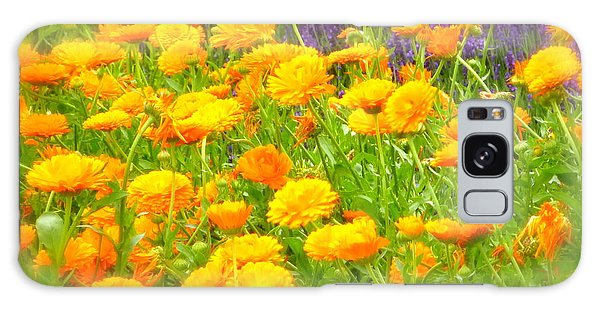 Marigolds And Lavender Galaxy Case
