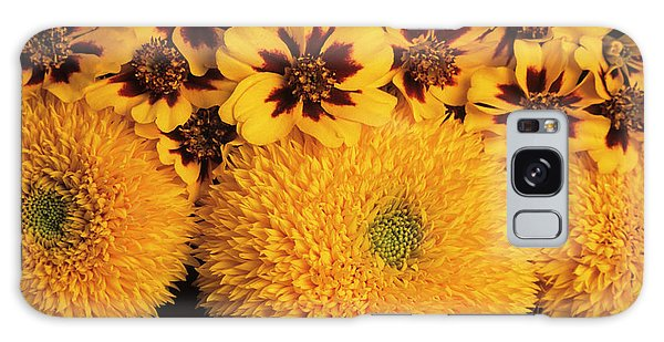 Helianthus Annuus Galaxy Case - Marigolds And Sunflowers by Ann Pickford/science Photo Library