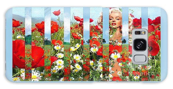 Marilyn In Poppies 1 Galaxy Case
