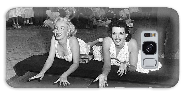Actor Galaxy Case - Marilyn Monroe And Jane Russell by Underwood Archives