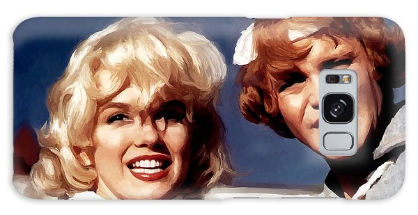 Marilyn Monroe And Jack Lemon Portrait Galaxy Case