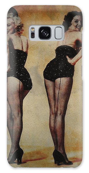 Marilyn Monroe And Jane Russell Galaxy Case by EricaMaxine  Price