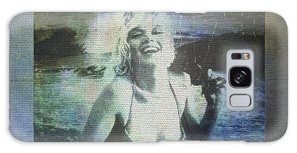 Marilyn Monroe At The Beach Galaxy Case by Absinthe Art By Michelle LeAnn Scott