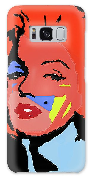 Marilyn Monroe In Color Galaxy Case by Robert Margetts