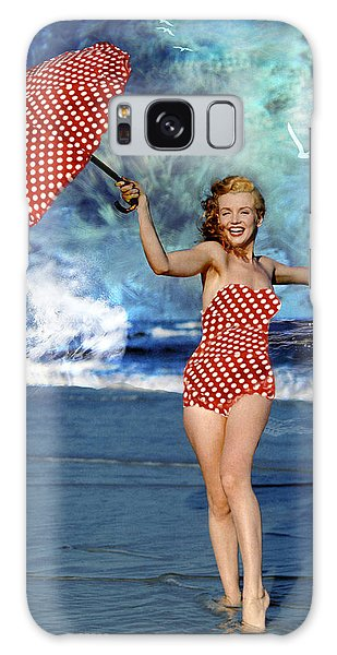 Marilyn Monroe - On The Beach Galaxy Case by EricaMaxine  Price