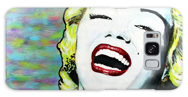 Marilyn Monroe Portrait Bright Laugh Galaxy Case
