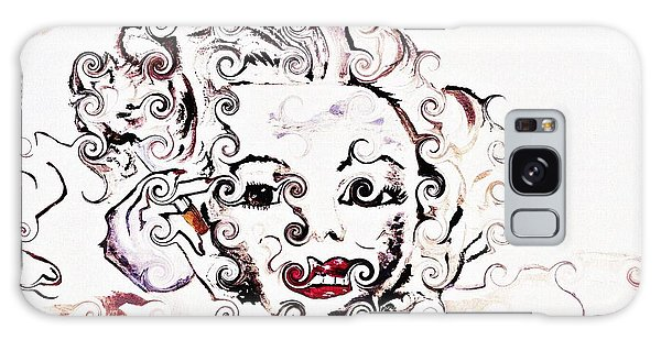 Marilyn Monroe With Diamonds Are A Girls Best Friend 2 Galaxy Case by Ayasha Loya