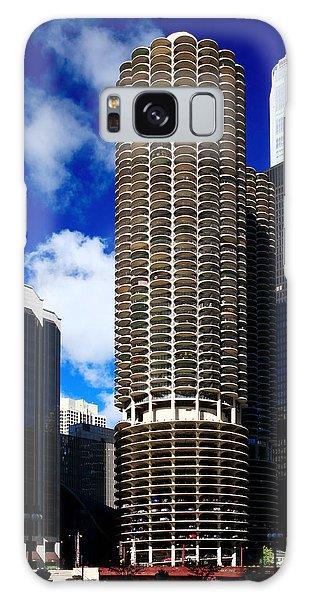 Marina City Corncob Tower Galaxy Case