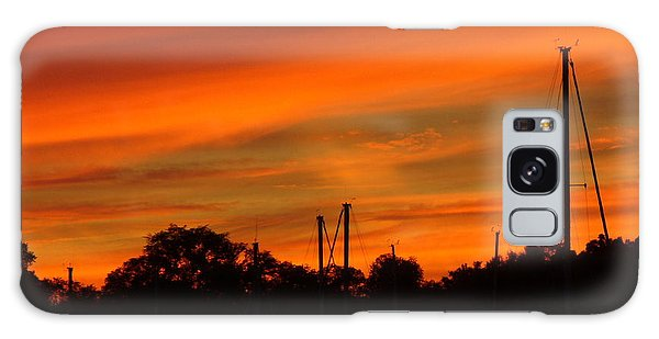 Marina Sunset Galaxy Case by Deena Stoddard