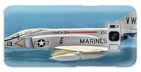 Marine F-4 Phantom  Painting Galaxy Case