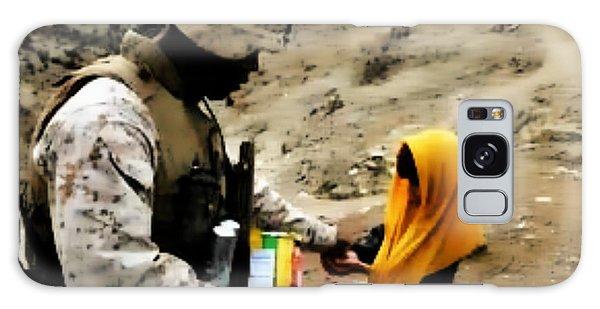 Marine Gives Afgan Girl Candy Galaxy Case