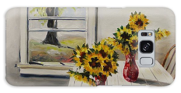 Market Sunflowers Galaxy Case by John Williams