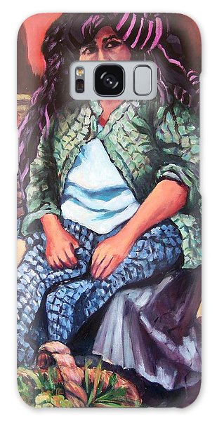 Market Woman From Patzcuaro Galaxy Case