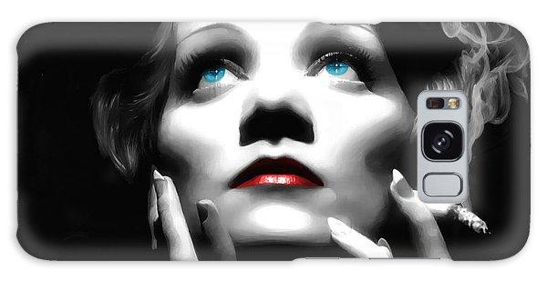 Marlene Dietrich Portrait Galaxy Case