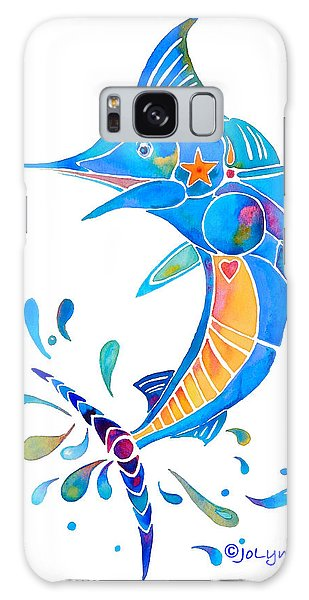 Marlin Dance Of Color Galaxy Case by Jo Lynch