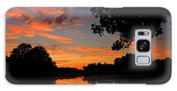 Marlu Lake At Sunset Galaxy Case