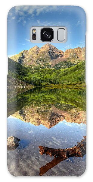 Maroon Bells And Maroon Lake Galaxy Case by Ken Smith
