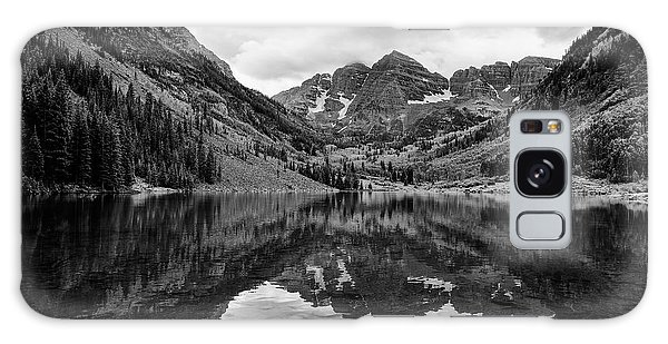 Maroon Bells - Aspen - Colorado - Black And White Galaxy Case