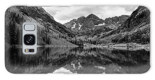 Maroon Bells - Aspen - Colorado - Black And White Galaxy Case