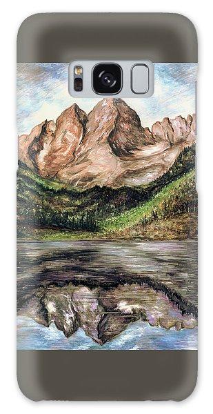 Maroon Bells Colorado - Landscape Painting Galaxy Case