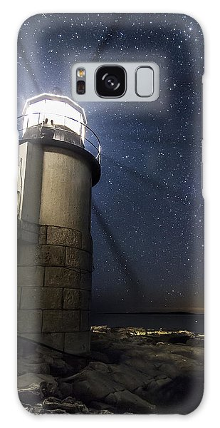Marshall Lighthouse And The Night Sky Galaxy Case