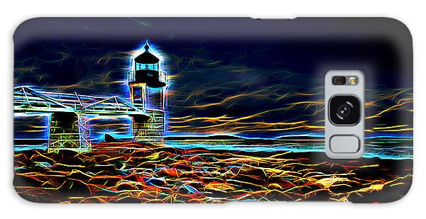 Marshall Point Lighthouse Neon Galaxy Case