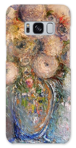 Marshmallow Flowers Galaxy Case by Laurie L