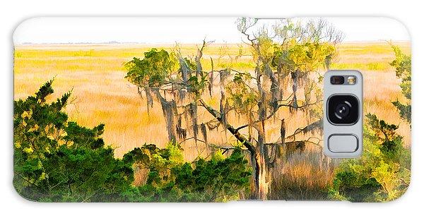 Marsh Cedar Tree And Moss Galaxy Case