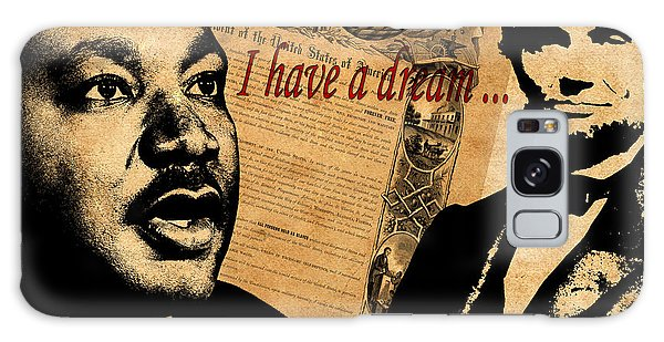 Martin Luther Galaxy Case - Martin Luther King Jr 2 by Andrew Fare
