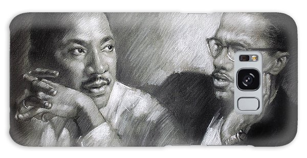 Peace Galaxy Case - Martin Luther King Jr And Malcolm X by Ylli Haruni