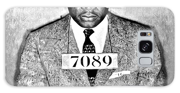 Martin Luther King Mugshot Galaxy Case by Bill Cannon