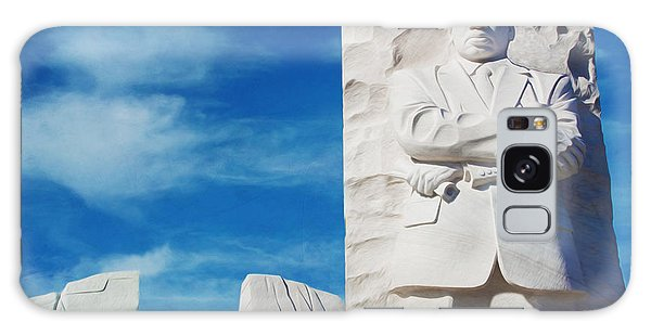 March On Washington Galaxy Case - Martin Luther King Memorial by Laura D Young