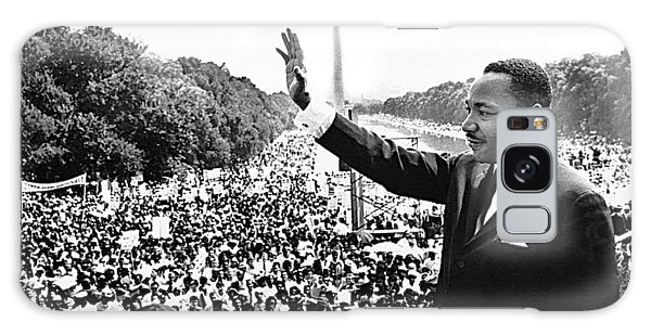 Martin Luther King The Great March On Washington Lincoln Memorial August 28 1963-2014 Galaxy Case
