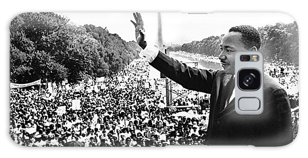 Martin Luther King The Great March On Washington Lincoln Memorial August 28 1963-2014 Galaxy Case by David Lee Guss
