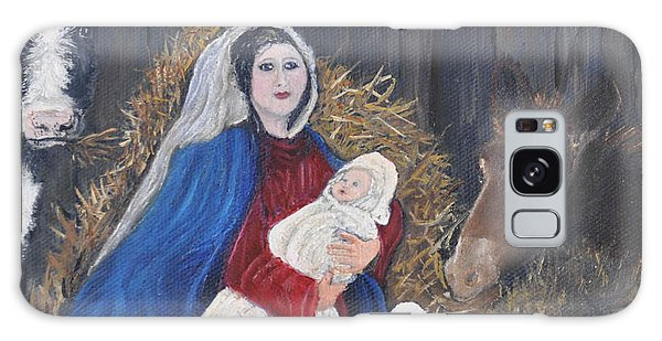 Mary And Baby Jesus Galaxy Case