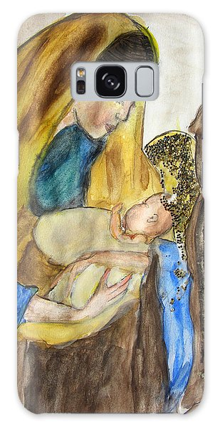 Mary Baby Jesus And St Anthony Galaxy Case