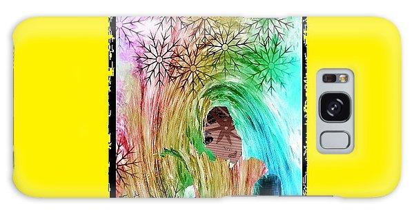 Mary In The Field Galaxy Case by Ann Calvo