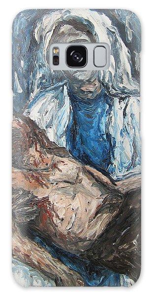 Mary With Jesus Galaxy Case by Cheryl Pettigrew
