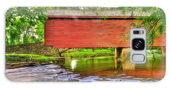 Maryland Country Roads - Peaceful Crossing - Loys Station Covered Bridge 3a Spring Galaxy Case
