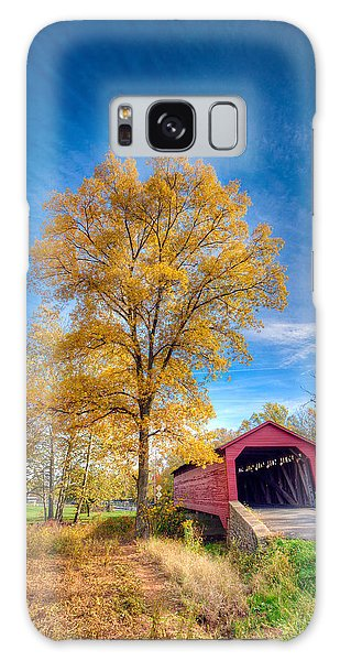 Maryland Covvered Bridge In Autumn Galaxy Case