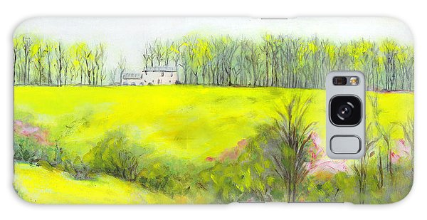 Maryland Landscape Springtime Rt40 East Original Painting Galaxy Case