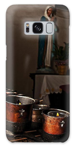 Mary's Candles Galaxy Case by Andy Crawford
