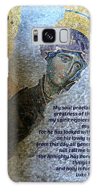 Mary's Magnificat Galaxy Case
